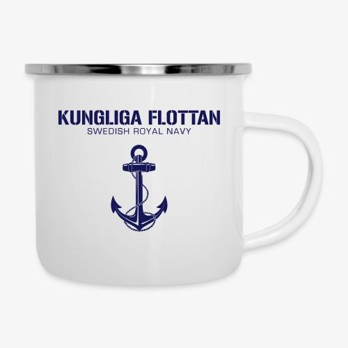 Kungliga Flottan - Swedish Royal Navy - ankare - Emaljmugg