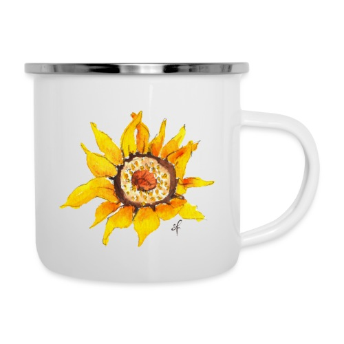 Sonnenblume - Emaille-Tasse