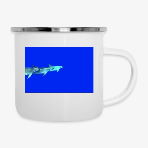 Delfinliebe - Emaille-Tasse