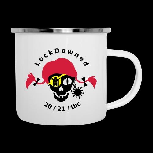 LockDowned - Emaille-Tasse