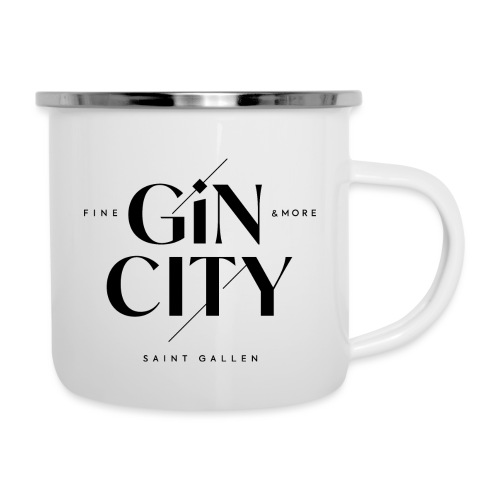 Gin City 2 - Emaille-Tasse