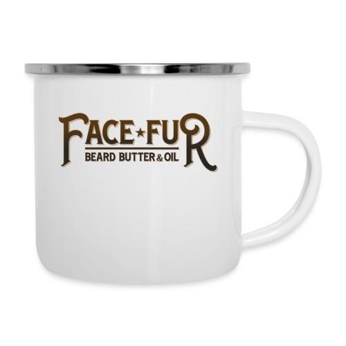 FaceFur transparent dark - Emaille-Tasse