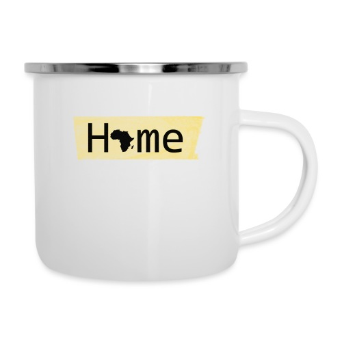home in africa - Emaille-Tasse