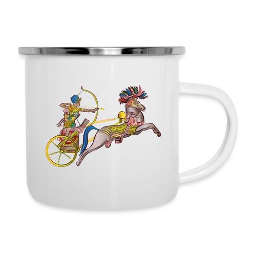 Pharao mit Streitwagen - Emaille-Tasse