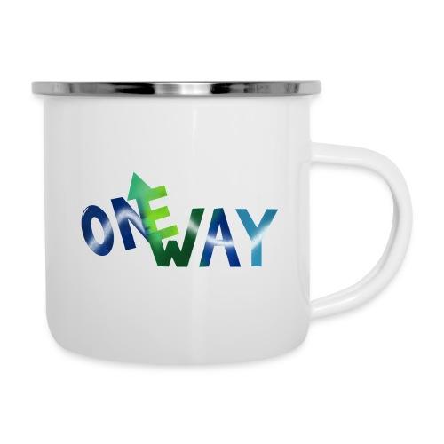 One Way - Emaille-Tasse