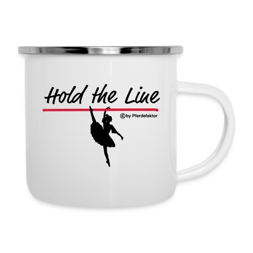 Hold the Line Ballerina - Emaille-Tasse