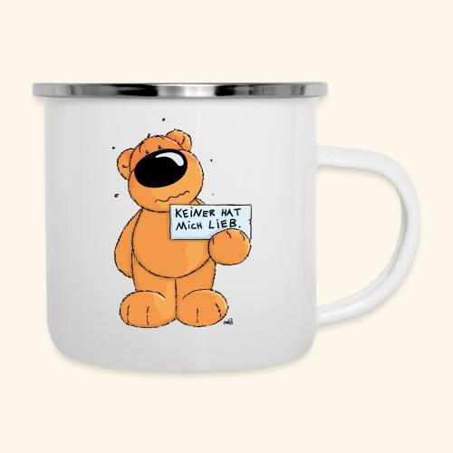 chris bears Keiner hat mich lieb - Emaille-Tasse