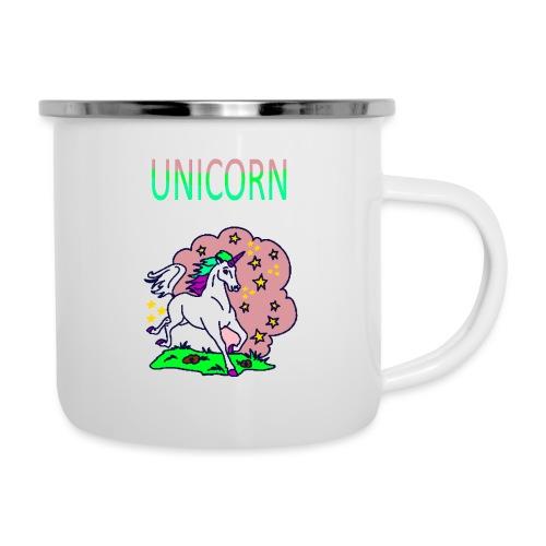 Einhorn unicorn - Emaille-Tasse
