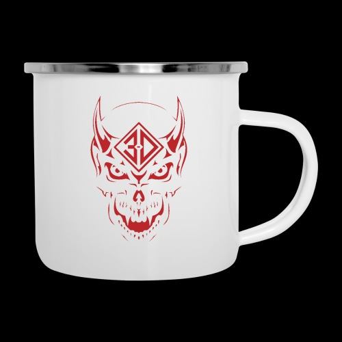 devil skull red - Tasse émaillée