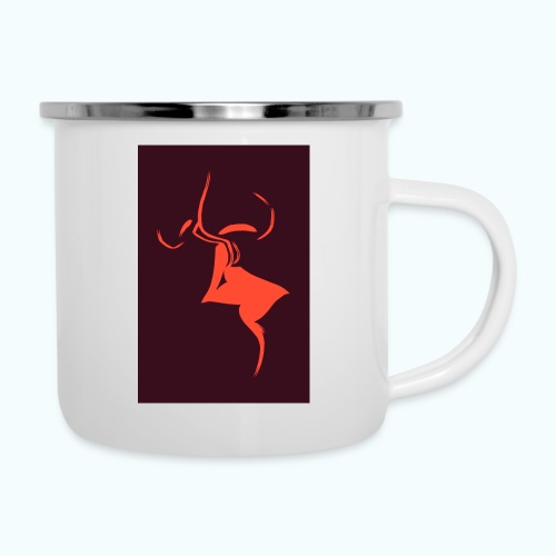 A dear kiss - minimalism lines drawing - Camper Mug