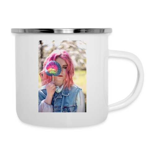 CANDY GIRIL WITH LOLLI - Emaille-Tasse