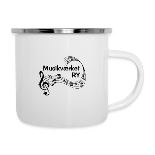Musikværket Ry (sort tryk) - Emaljekrus