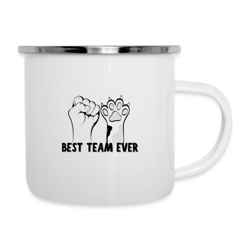 The Best Team Ever My And My Cat - Recxoo.com - Emaljekrus