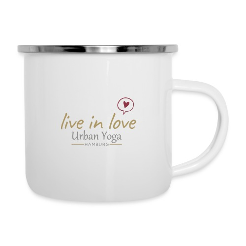 Live in Love - Emaille-Tasse