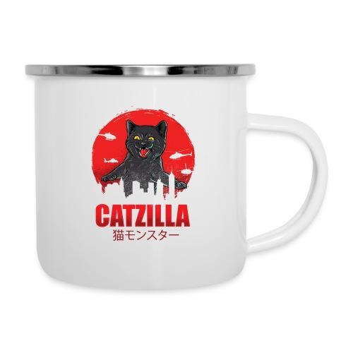 Catzilla Katzen Horror B-Movie Parodie - Emaille-Tasse