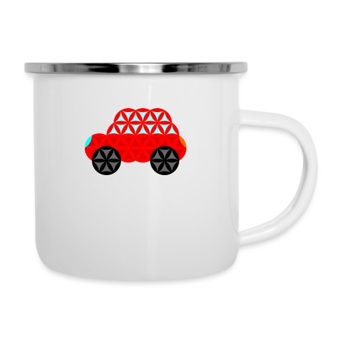 The Car Of Life - M01, Sacred Shapes, Red/R01. - Camper Mug