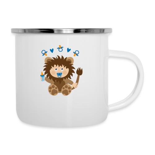 Baby in Löwenkostüm - Emaille-Tasse