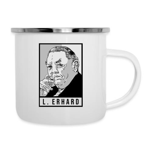 Ludwig Erhard (CDU) - Emaille-Tasse