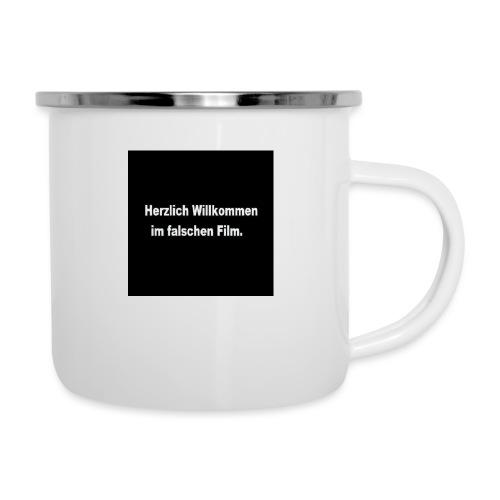 Willkommen im Falschen Film - Emaille-Tasse