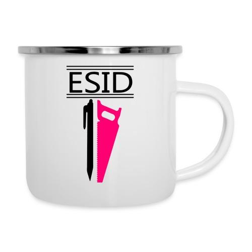 ESID Zwart-roze - Emaille mok