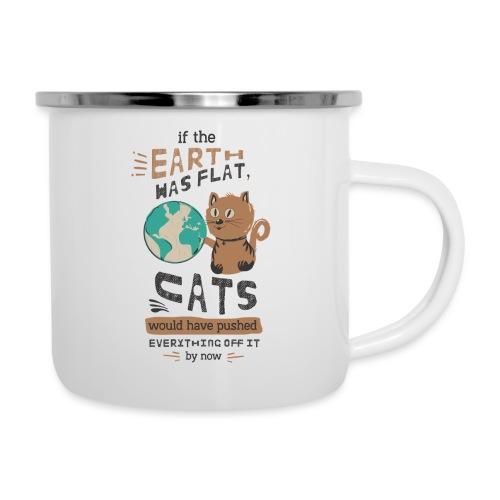 IF THE EARTH WAS FLAT - Emaljekopp