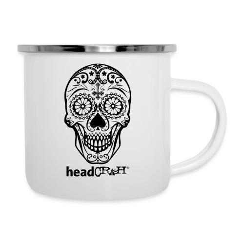 Skull & Logo black - Emaille-Tasse