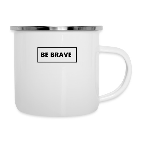 BE BRAVE Tshirt - Emaille mok