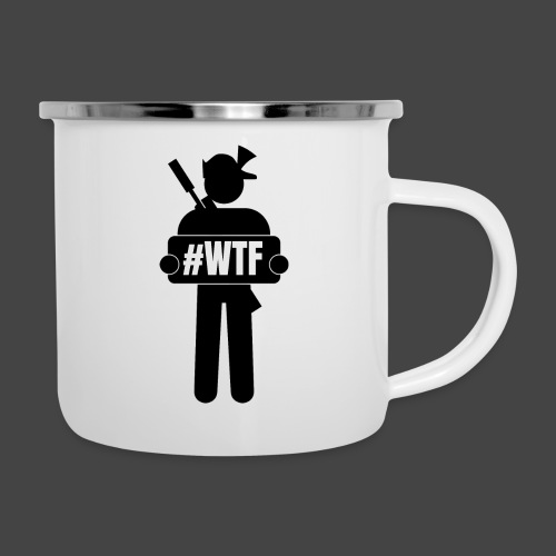 wtfman - Emaille-Tasse