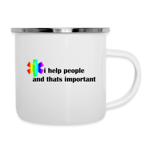 i help people - Emaille mok