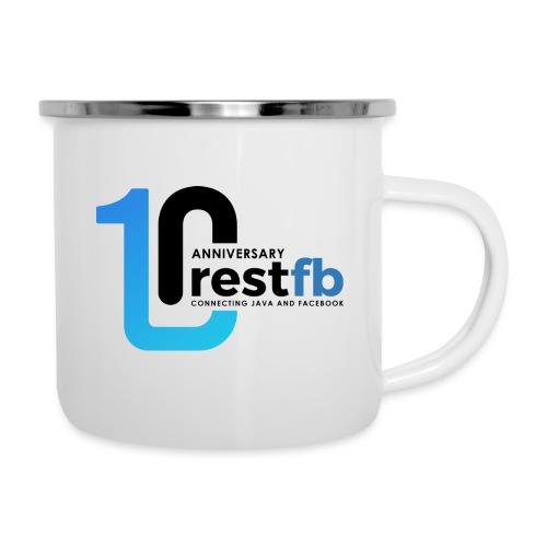 10years RestFB - anniversary logo - Camper Mug