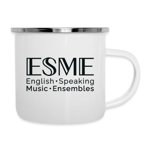 ESME Logo Schwartz - Emaille-Tasse
