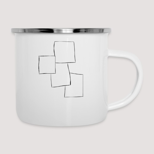 4 Squares - Emaljekopp