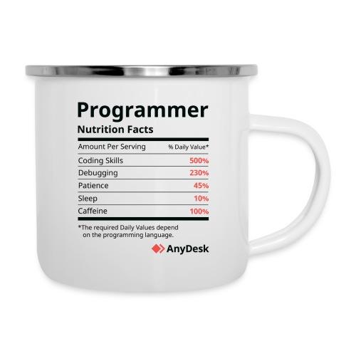 Programmer Nutrition Facts AnyDesk - Emaille-Tasse