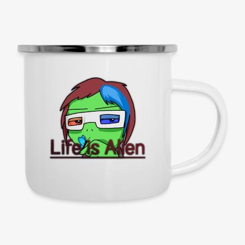Life is Alien - Emaille-Tasse