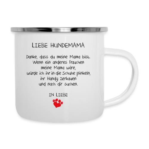 Vorschau: liebe hundemama - Emaille-Tasse