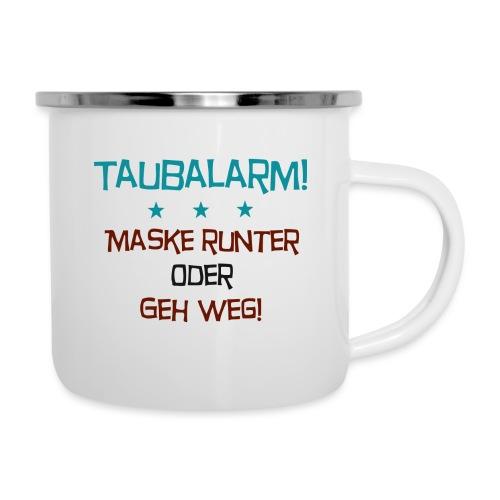 Taubalarm - Emaille-Tasse