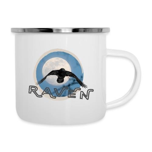 Australian Raven Full Moon - Camper Mug