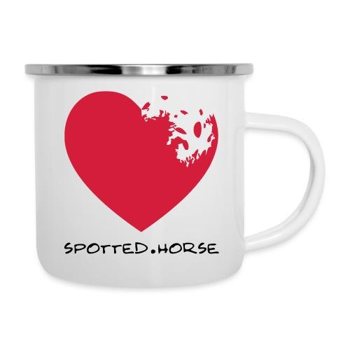 Cuore Appaloosa Spotted.Horse - Tazza smaltata