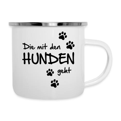 Vorschau: Die mit den Hunden geht - Emaille-Tasse
