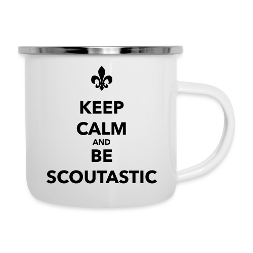 Keep calm and be scoutastic - Farbe frei wählbar - Emaille-Tasse