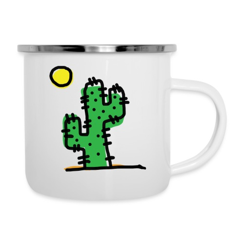 Cactus single - Tazza smaltata