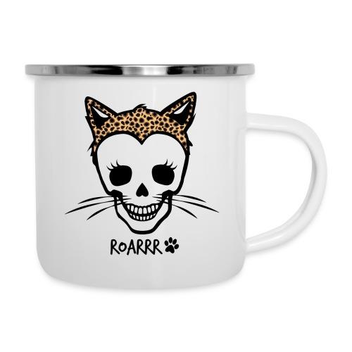 Wild-Katzen-Liebe - Emaille-Tasse