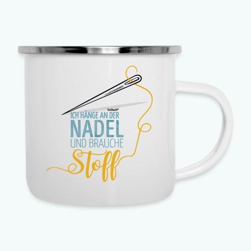 Nähen Nadel Frauen Spruch Handarbeit - Emaille-Tasse