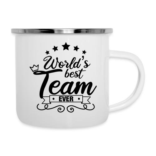 World's best team ever / Meilleure équipe du monde - Tasse émaillée