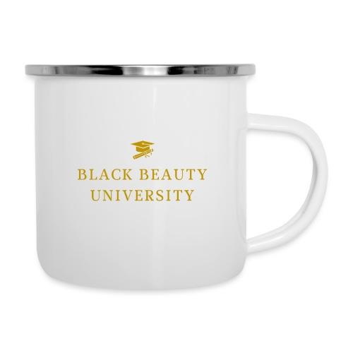 BLACK BEAUTY UNIVERSITY LOGO GOLD - Tasse émaillée