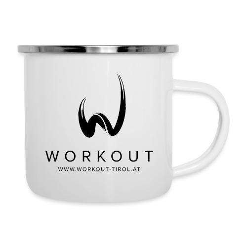 Workout mit Url - Emaille-Tasse