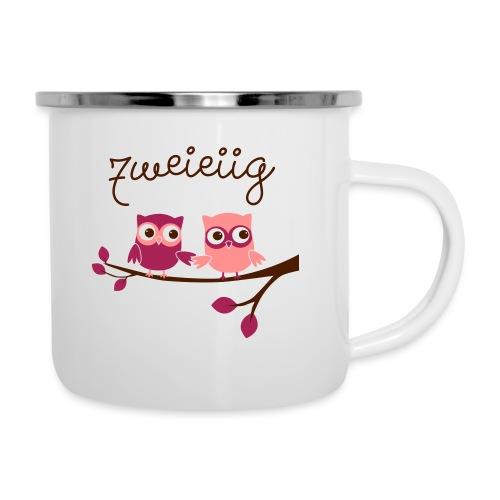 Zweieiig Mädchen - Emaille-Tasse