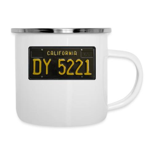 CALIFORNIA BLACK LICENCE PLATE - Camper Mug