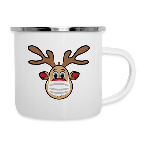 Ugly Xmas Rudi Reindeer mit Maske - Emaille-Tasse