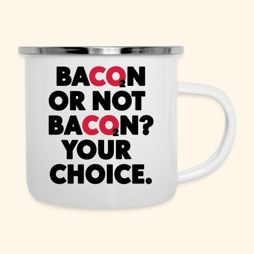 Bacon or not bacon - Emaljmugg
